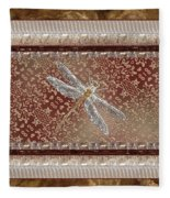 Penny Postcard Sophisticated Fleece Blanket