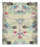 Penny Postcard Teahouse Fleece Blanket