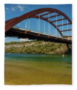 Pennybacker 360 Bridge, Austin, Texas Fleece Blanket