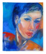 Pensive Fleece Blanket