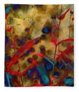 Penstemon Abstract 2 Fleece Blanket