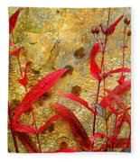 Penstemon Abstract 4 Fleece Blanket