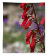 Penstemon Fleece Blanket