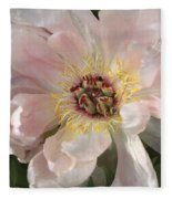 Peonie In Soft Pink Fleece Blanket