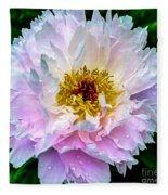 Peony Flower Fleece Blanket