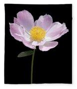 Peony Flower Portrait Fleece Blanket