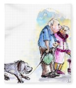 People And Their Dogs 02 Fleece Blanket