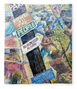 People's Wall Berkeley Ca 1977 Fleece Blanket