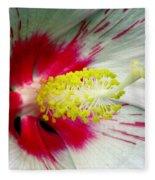 Peppermint Flame 01a Fleece Blanket