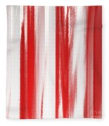 Peppermint Stick Abstract Fleece Blanket