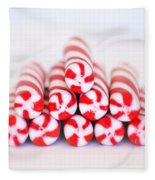 Peppermint Twist - Candy Canes Fleece Blanket