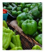 Peppers From The Farm Nj Fleece Blanket