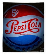 Pepsi Cap Sign Fleece Blanket