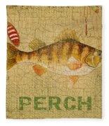 Perch On Burlap Fleece Blanket