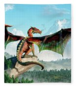 Perched Dragon Fleece Blanket