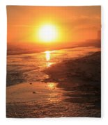 Perdido Key Sunburst Fleece Blanket