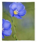 Perennial Flax Flowers Fleece Blanket