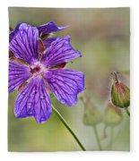 Perennial Geranium Fleece Blanket