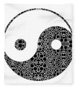 Perfect Balance 1 - Yin And Yang Stone Rock'd Art By Sharon Cummings Fleece Blanket