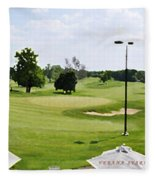 Perfect Day For Golf Fleece Blanket