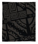 Perfect Imperfections II - Charcoal Infusion Fleece Blanket