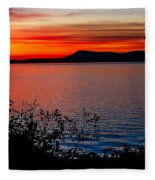 Perfect Marine Sunset Fleece Blanket