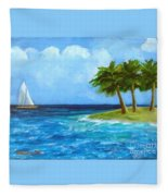 Perfect Sailing Day Fleece Blanket