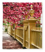 Perfect Time For A Spring Walk Fleece Blanket