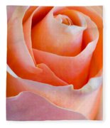 Perfection In A Peach Rose Fleece Blanket