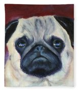 Perfectly Pug Fleece Blanket