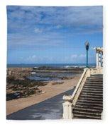 Pergola Da Foz At Praia Do Molhe Beach In Porto Fleece Blanket