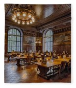 Periodical Room At The New York Public Library Fleece Blanket