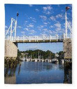 Perkins Cove - Maine Fleece Blanket