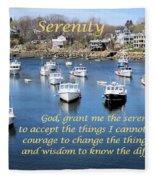 Perkins Cove Serenity Fleece Blanket