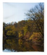 Perkiomen Creek In Autumn Fleece Blanket