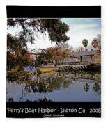 Perrys Boat Harbor 2006 Fleece Blanket