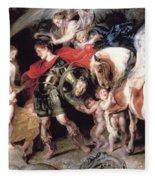 Perseus Liberating Andromeda Fleece Blanket
