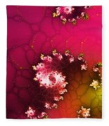 Persistent Flowers Fleece Blanket