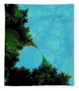 Perspective In The Forest Fleece Blanket