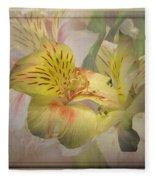 Peruvian Lily Framed Fleece Blanket
