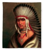 Petalesharro. Generous Chief  Pawnee Fleece Blanket