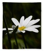 Petals Of White Fleece Blanket