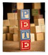 Pete - Alphabet Blocks Fleece Blanket