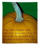 Peter Peter Pumpkin Eater Fleece Blanket