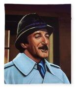 Peter Sellers As Inspector Clouseau  Fleece Blanket