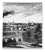 Petersburg, Virginia, 1856 Fleece Blanket