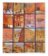 Petra Alive In Petra Jordan Fleece Blanket