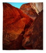 Petroglyphs Valley Of Fire Nevada Fleece Blanket