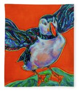 Petty Harbour Puffin Fleece Blanket