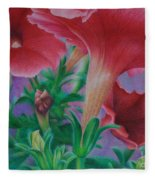 Petunia Skies Fleece Blanket